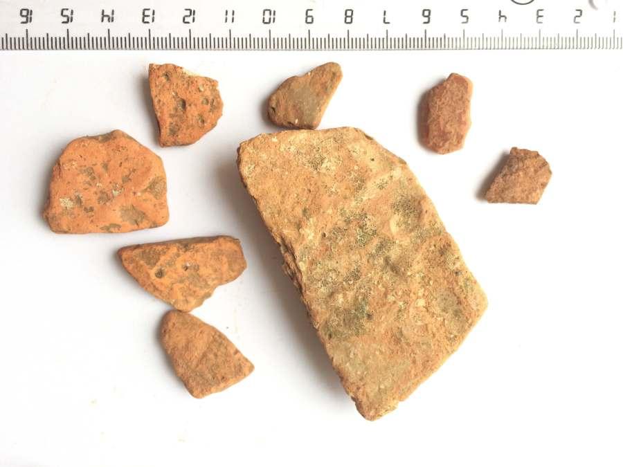 Fragmentos cerámicos de Las Talayas.