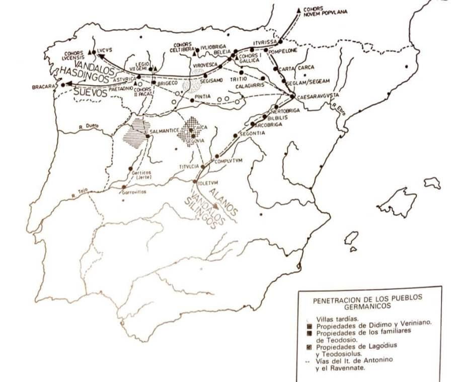 Las invasiones germánicas en la península.